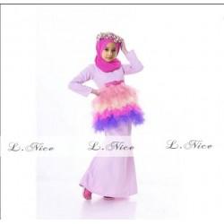 L Nice Softpurple Top Tutu Skirt+Scarf
