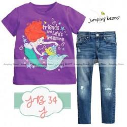 Jumping Beans Ariel Mermaid Set Jeans