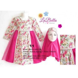 La Bella Hotpink Flowers Top