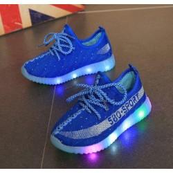 Blue yeezy sport