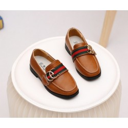 Brown Gucci Flat Shoes