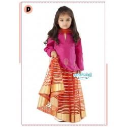 Senshukei PinkOrange Set(Top+Skirt+Shawl)