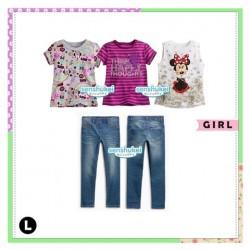Senshukei 4in1 Minnie Purple Stripe Set Jeans