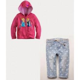 Samgami Pink Elsa Anna Jacket+Jeans