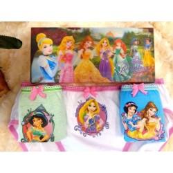Disney Original Princess 3 pcs Underwear
