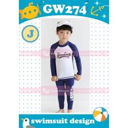 GW274J Navy Yankees Swimsuit
